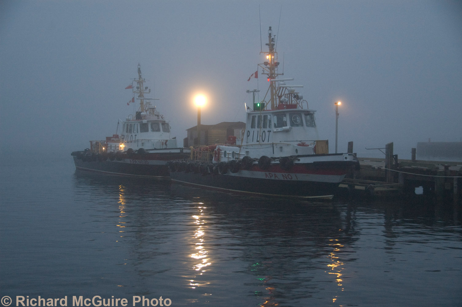 Foggy dusk, Halifax, Nova Scotia