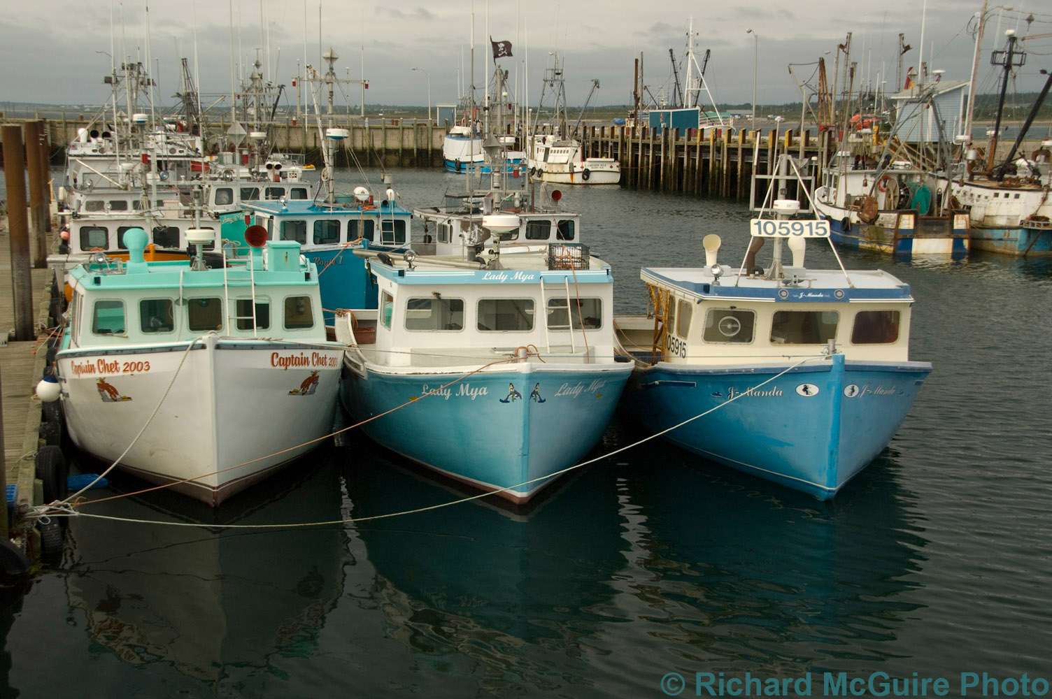 Boats, Meteghan harbour, Nova Scotia
