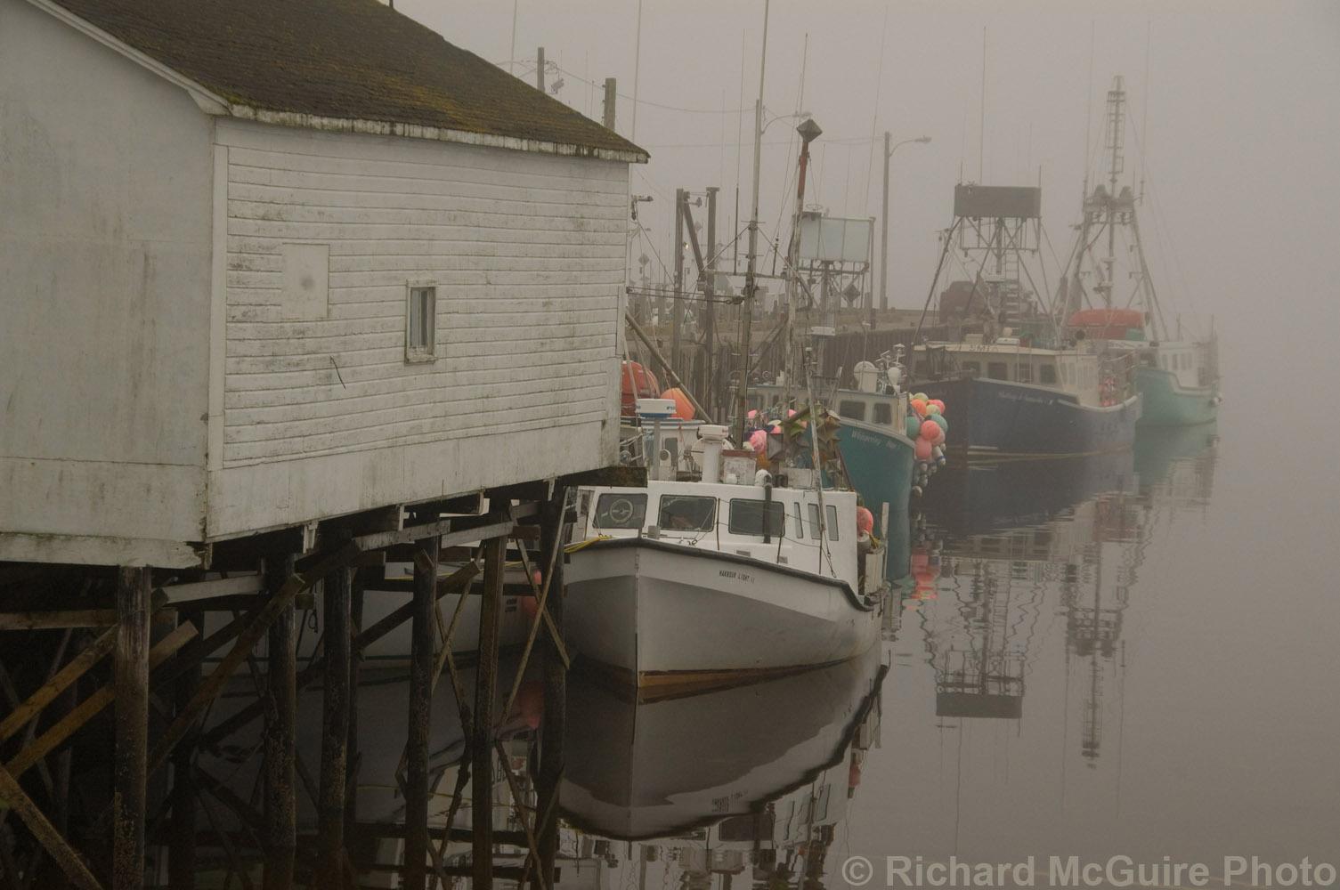 Boats at Shag Harbour on Nova Scotia