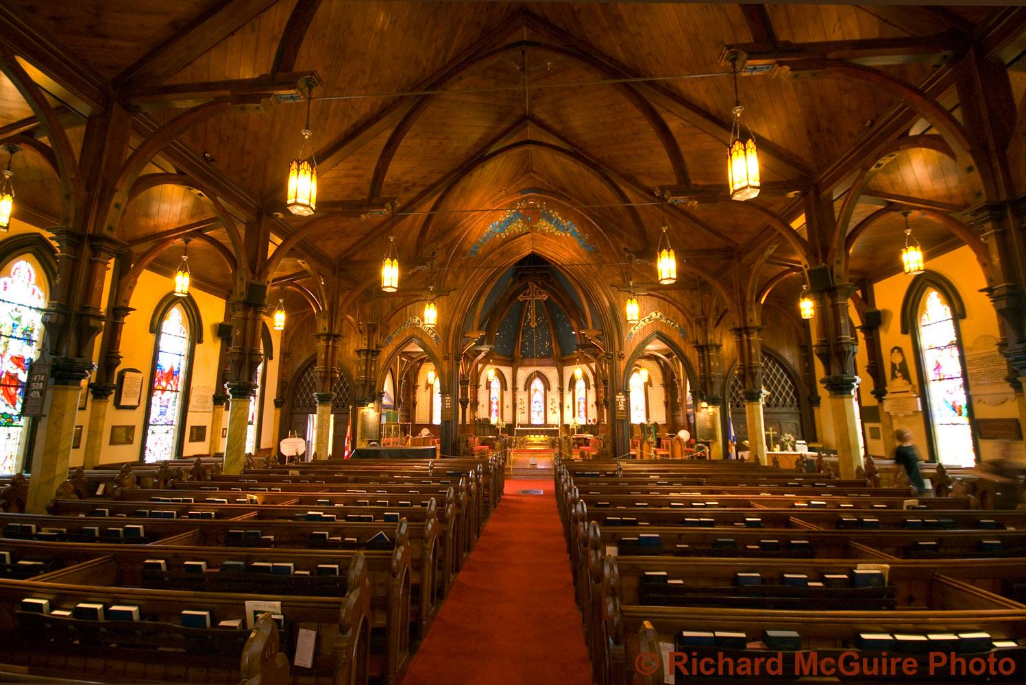 Restored St. John's Anglican Church, Lunenburg, Nova Scotia
