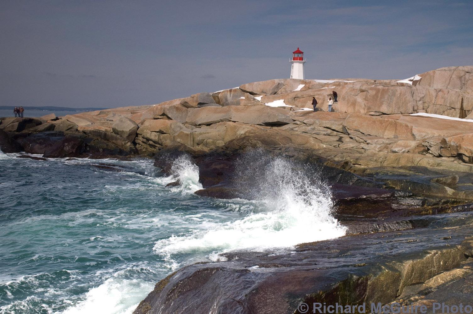Rocks and Lighthouse, Peggy's Cove, Nova Scotia