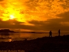 Sunset over tidal flats, Parc du Bic, Québec