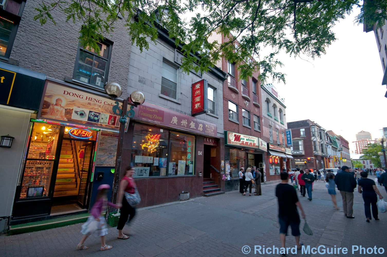 Chinatown, Montreal, at dusk