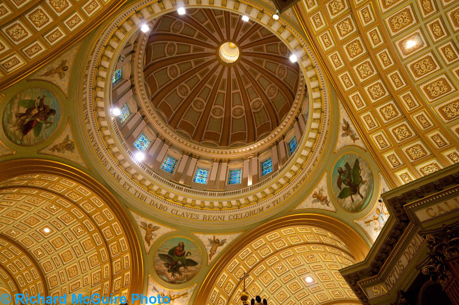 Ceiling, Cathédrale Marie-Reine-du-Monde, Montreal, Quebec