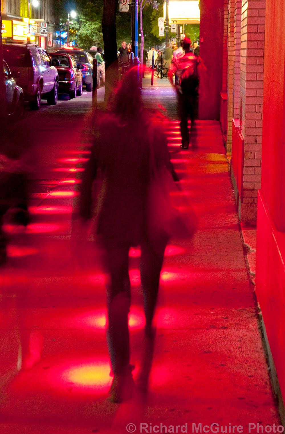 Red lights, Saint-Laurent Boulevard, Montreal, Quebec