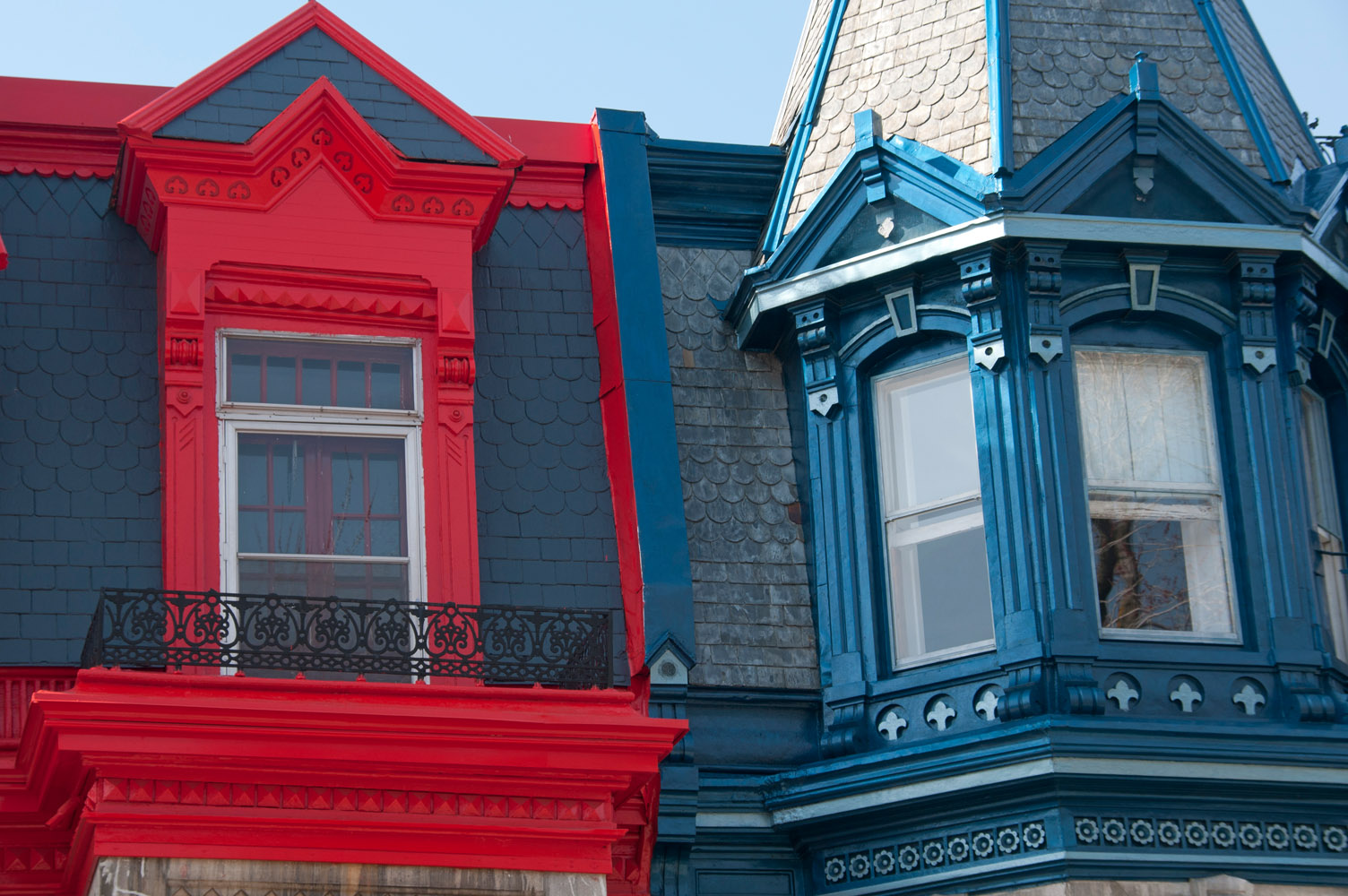 Victorian rooftops, Montreal Plateau