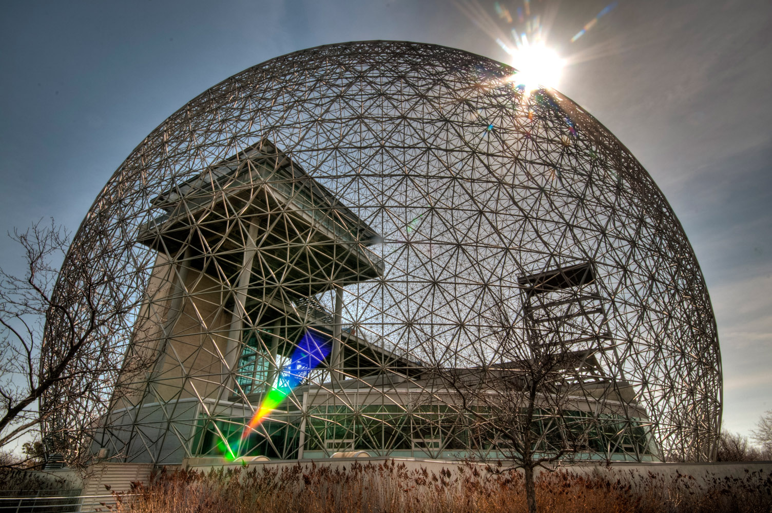 Sun over the Biosphere, Montreal