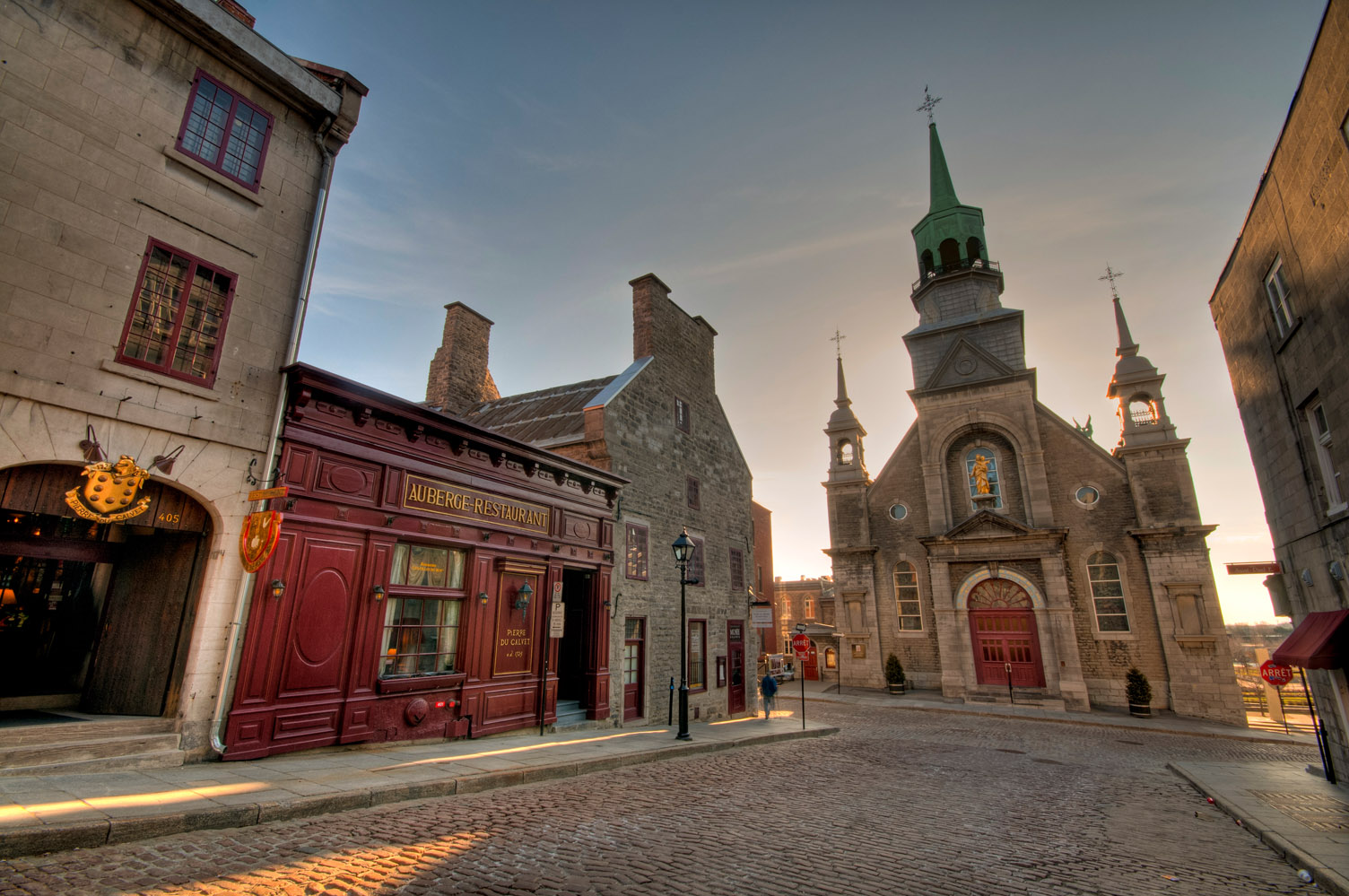 Early morning in Old Montreal