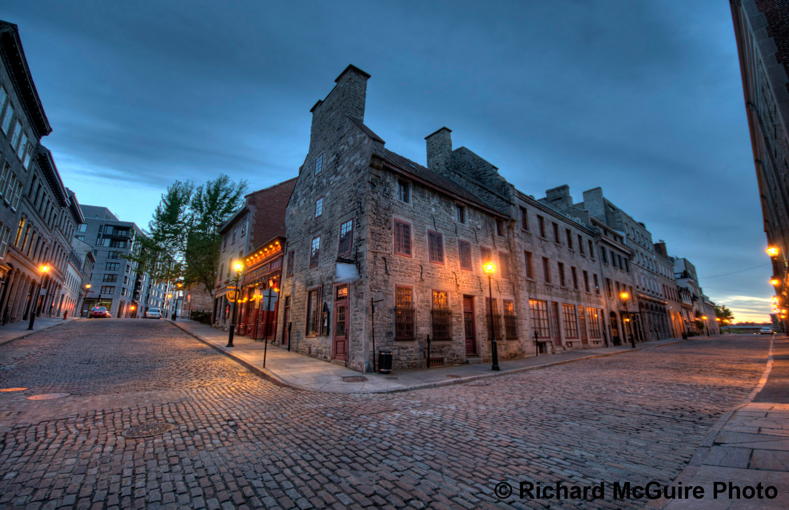 Old Montreal at dawn