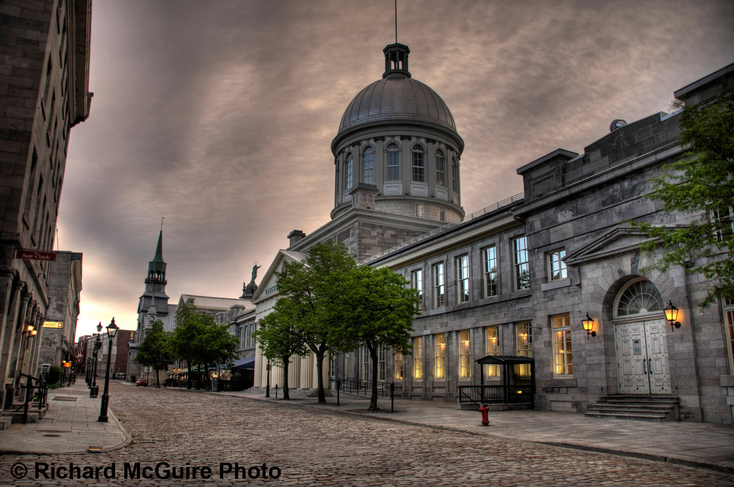 Bonsecours Market, early morning, Old Montreal