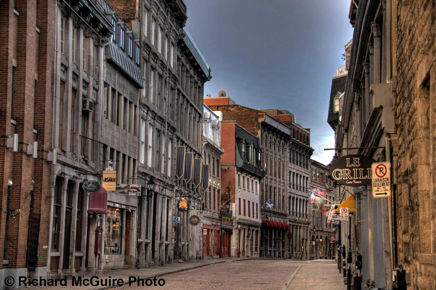 Rue Saint-Paul, Old Montreal, early morning