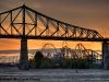 Pont Jacques Cartier and La Ronde, Montreal, Quebec, Canada