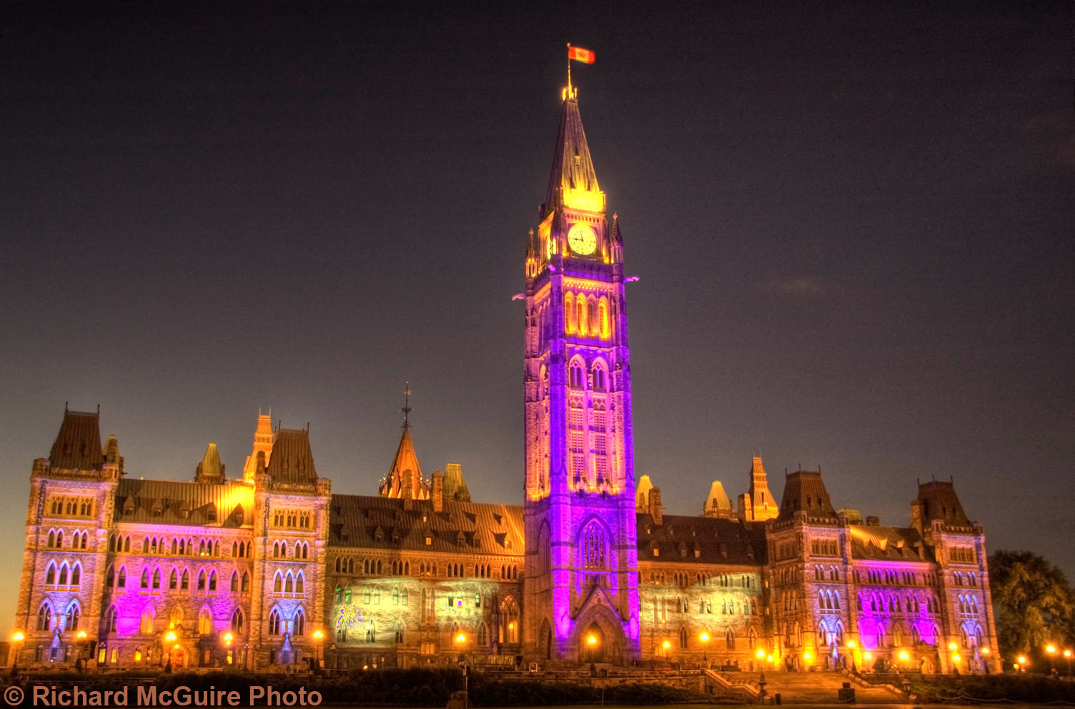 Sound and light - Parliament Buildings, Ottawa, Canada