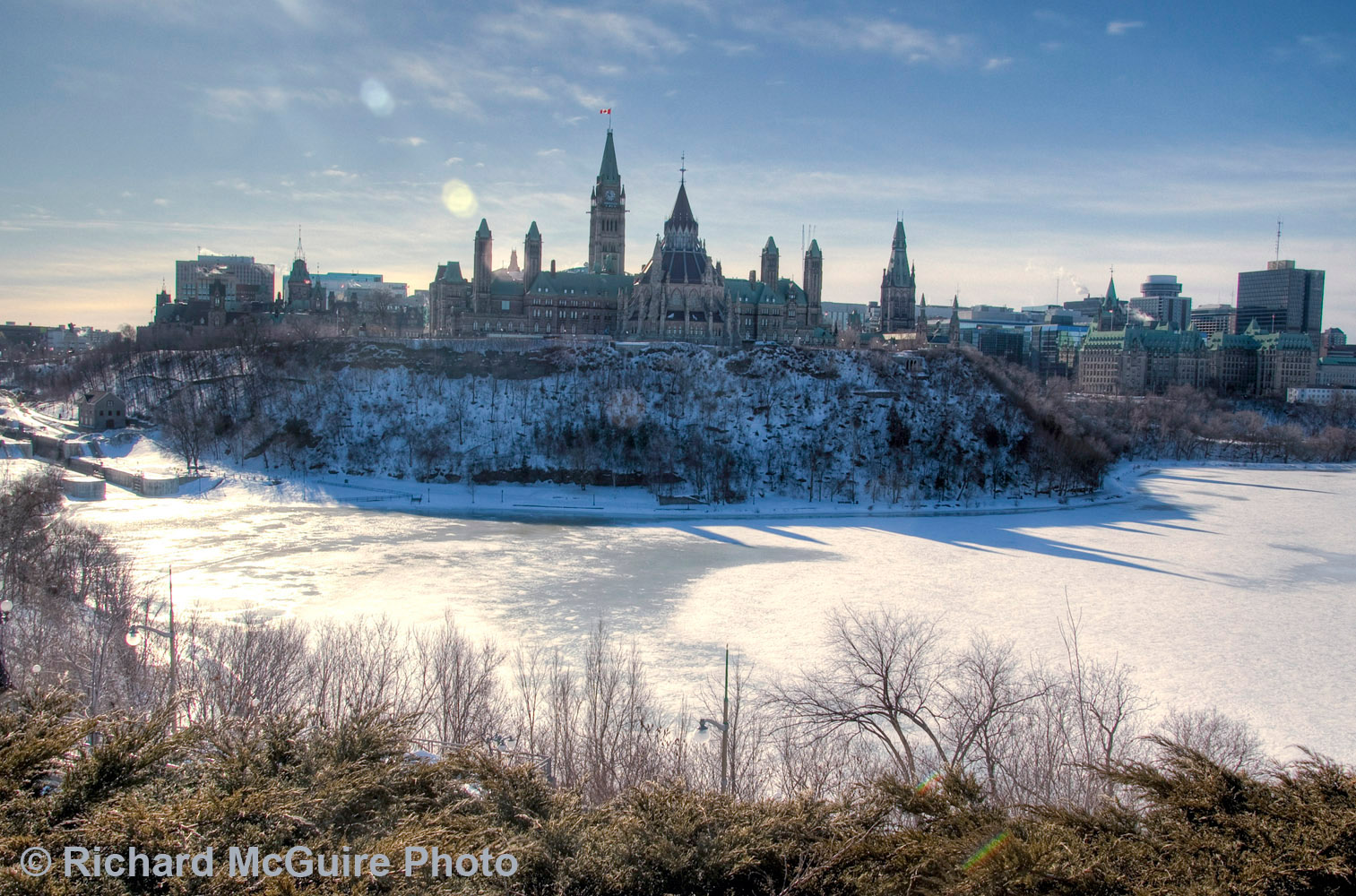 Parliament Hill, from Nepean Point, Ottawa