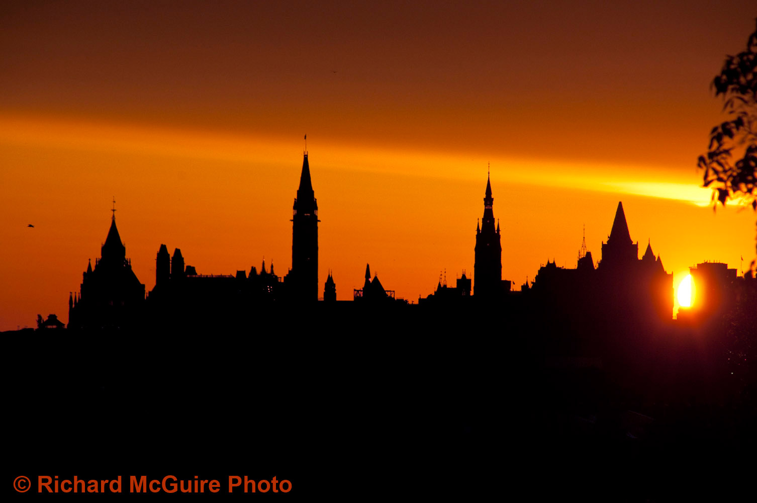 Canada's Parliament buildings at sunrise