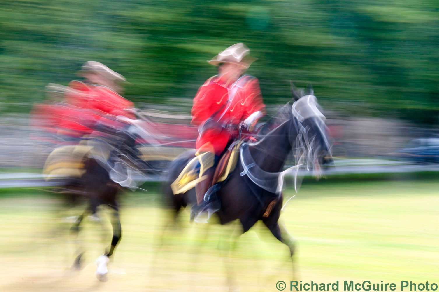 RCMP Musical Ride warm up