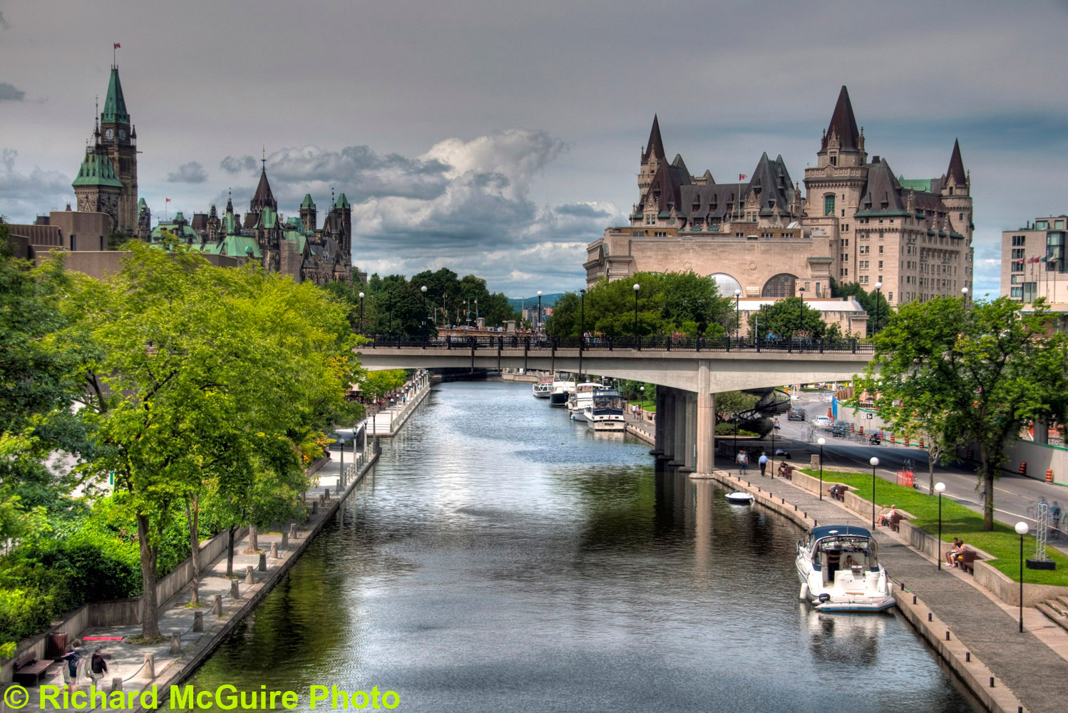 Ottawa's Rideau Canal in the summer