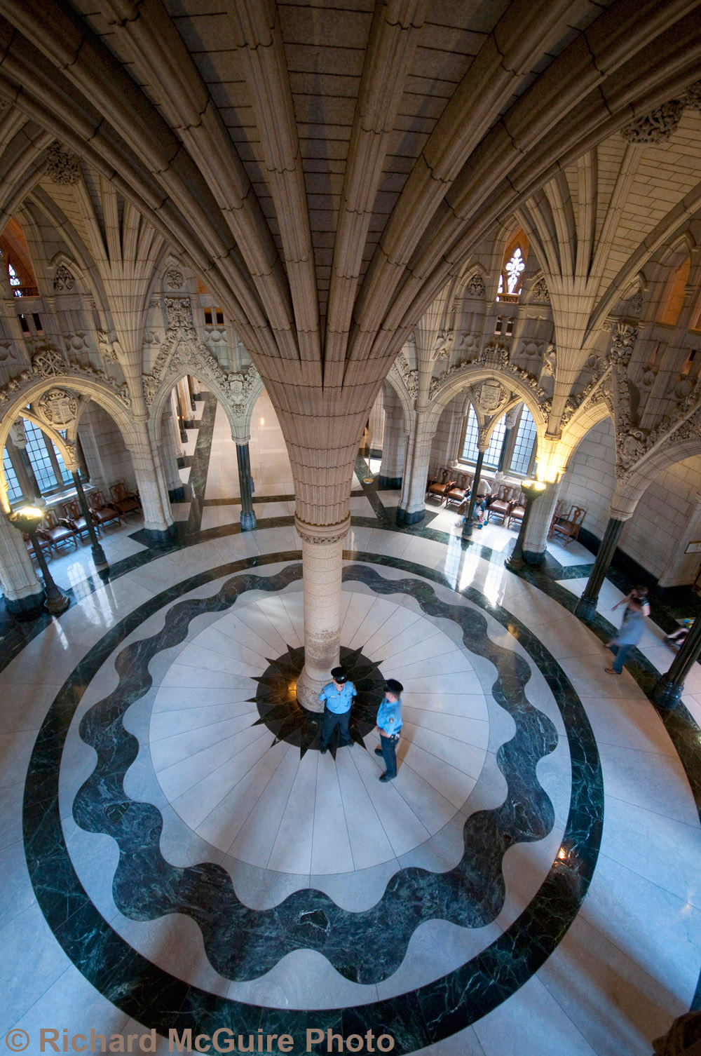 The rotunda, Centre Block, Parliament Buildings, Ottawa