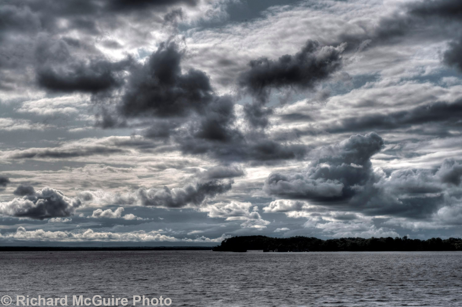 Storm clouds over the Ottawa River