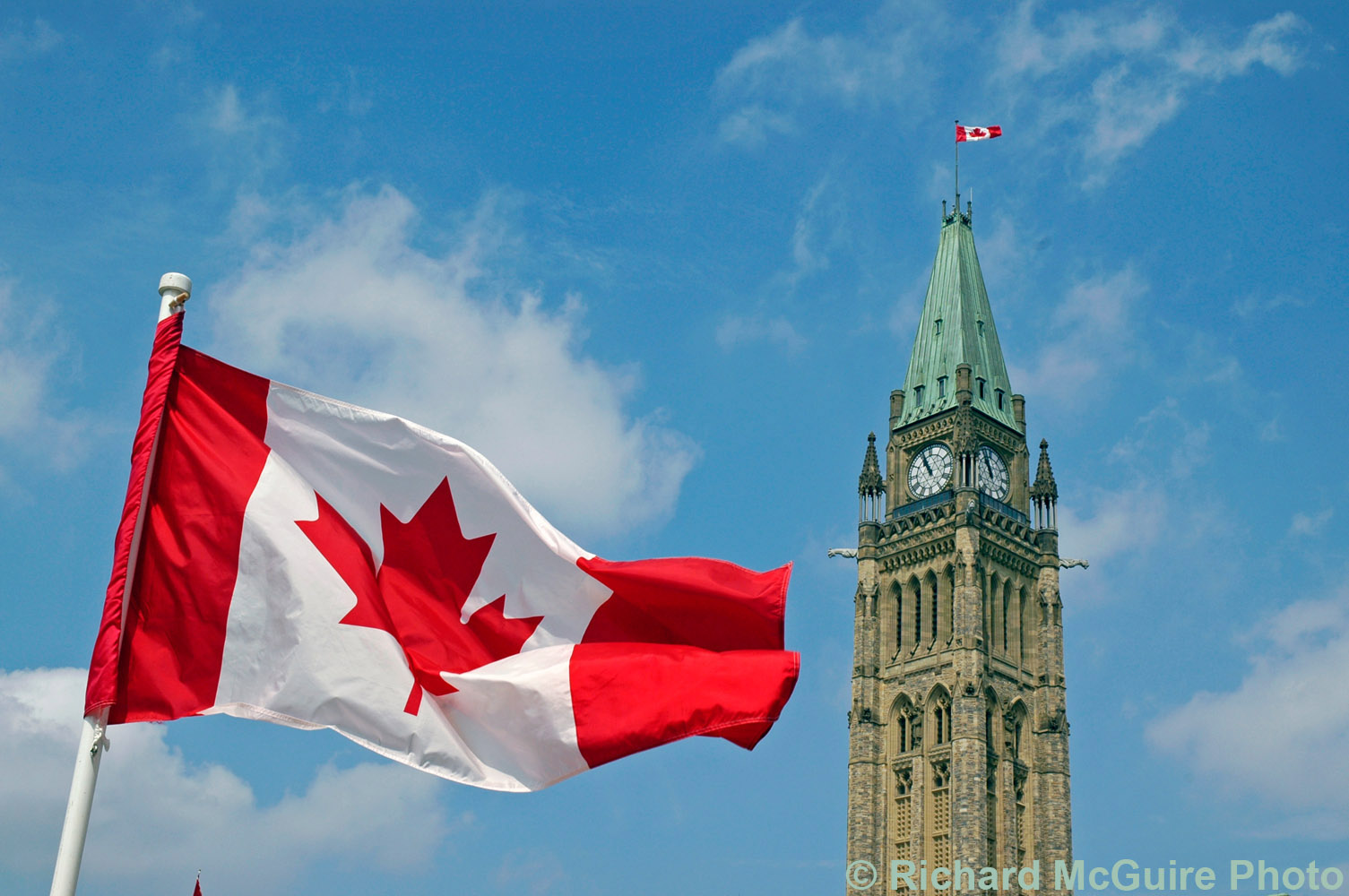 Flag, Canada Day, Parliament Hill