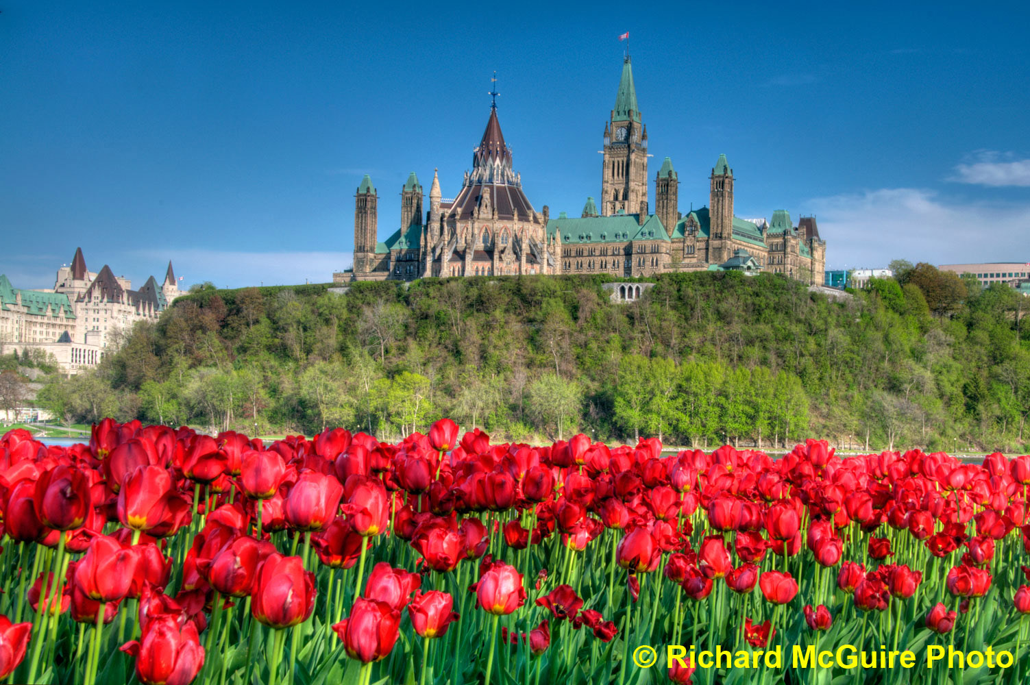 Parliament Hill from across the Ottawa River - HDR