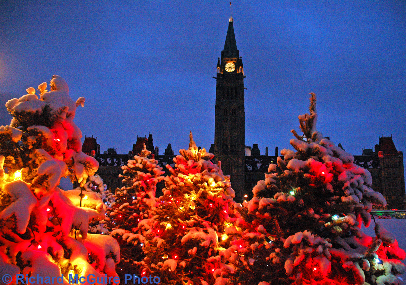 Canada's Parliament Buildings (1) in Winter