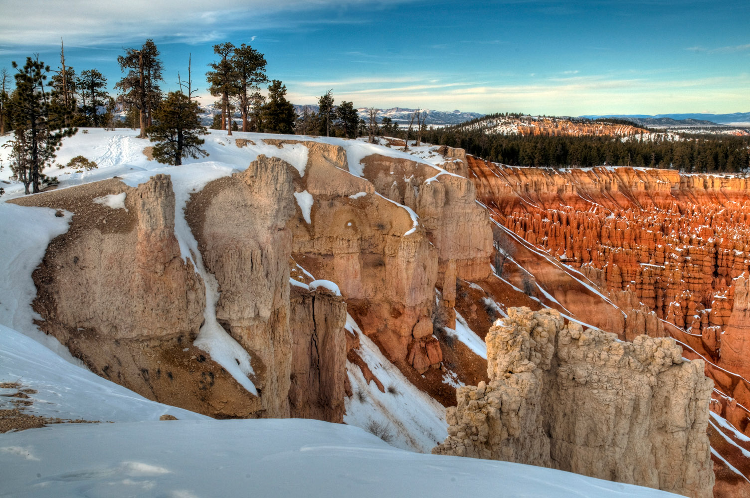 Evening at Bryce Canyon National Park, Utah