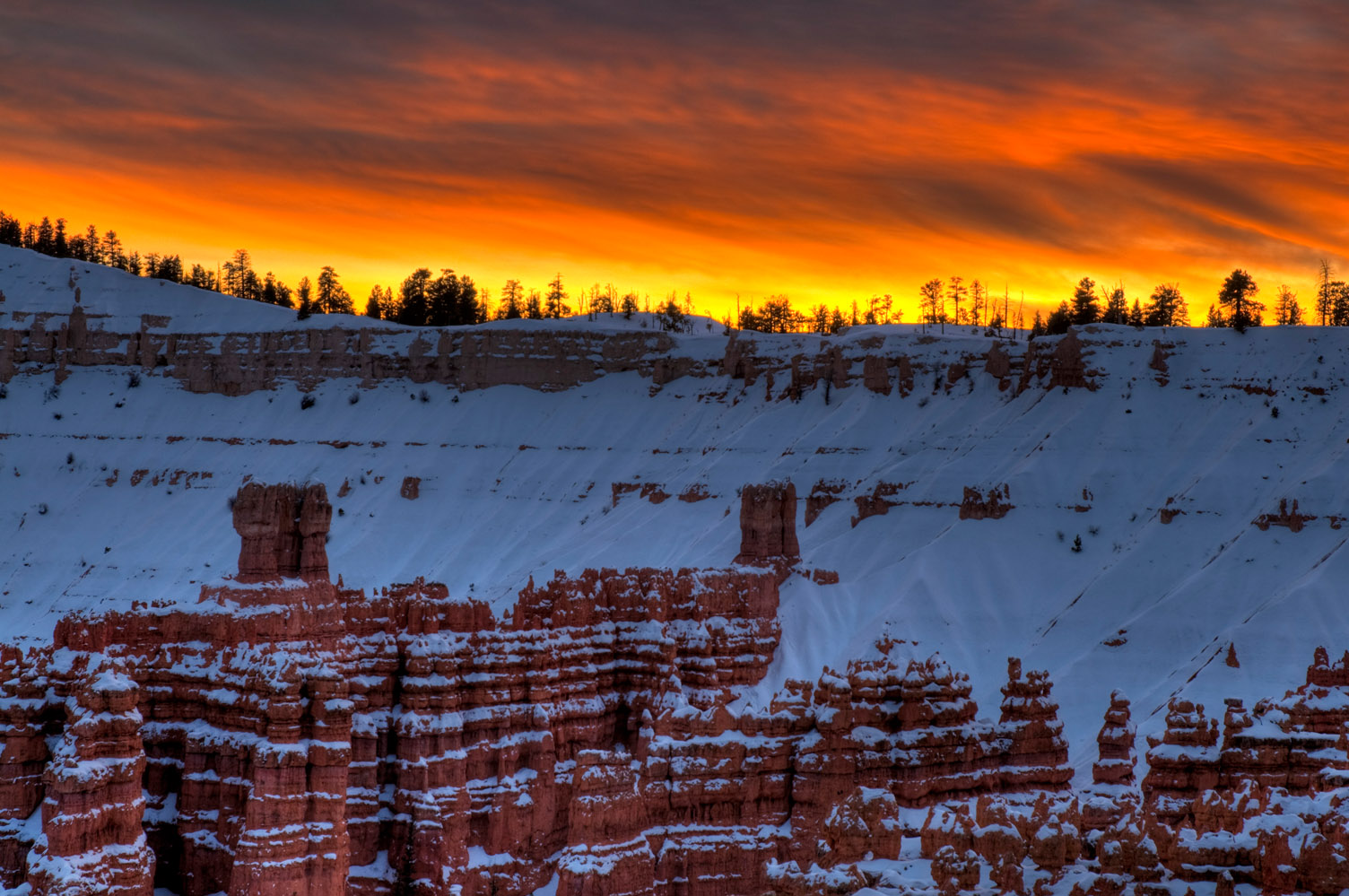 Bryce Canyon, Utah, at sunset