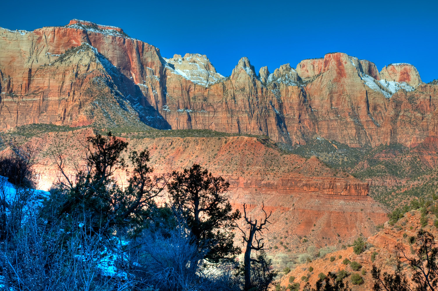 Morning sun, Zion National Park, Utah