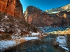 Winter in Zion National Park, Utah