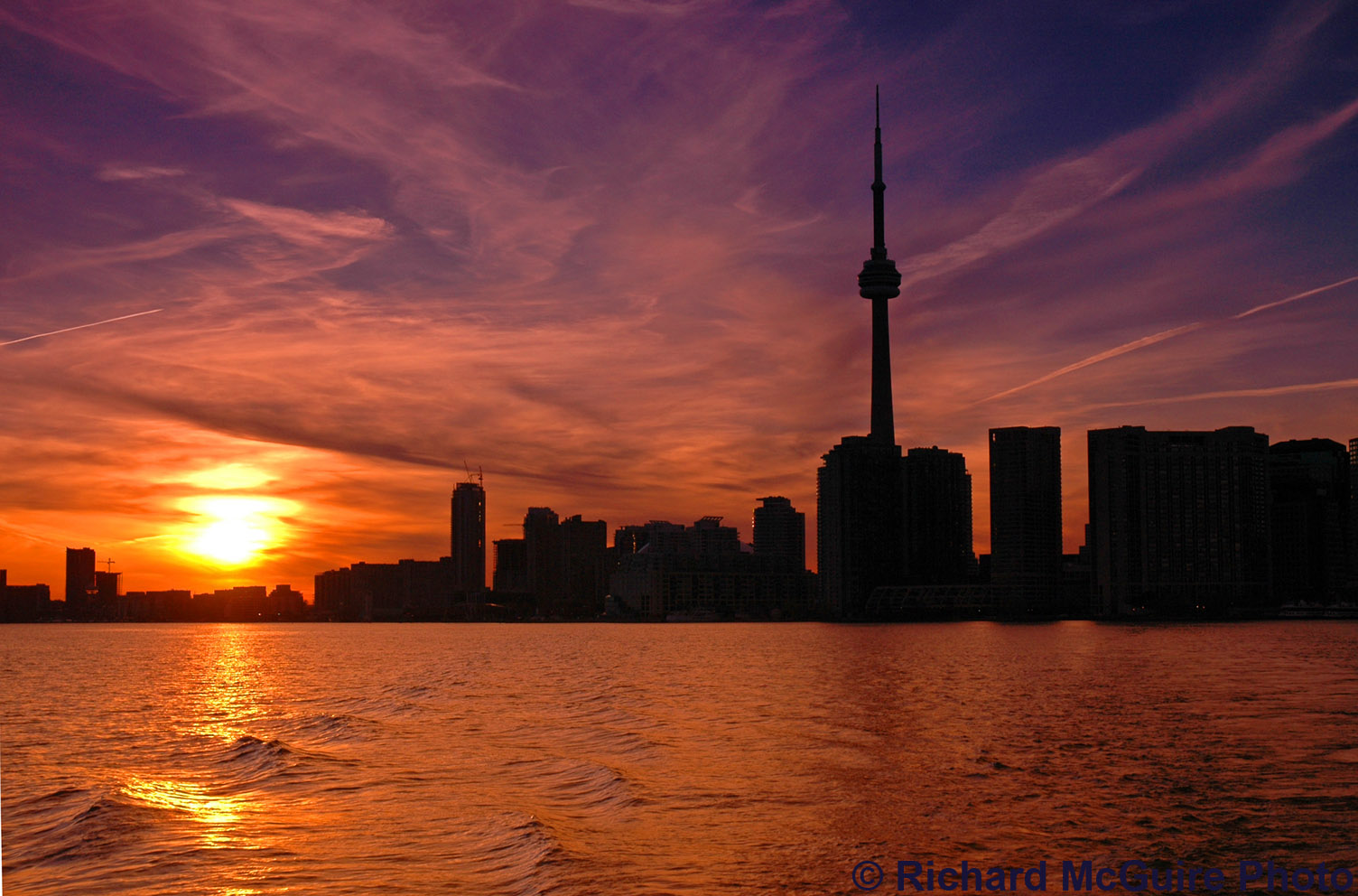 Skyline at Sunset, Toronto, Ontario