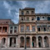 Weathered buildings, the Malecon, Havana