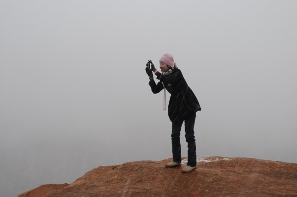 Horse Shoe Bend in the fog
