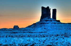 Monument Valley, Arizona, at sunset