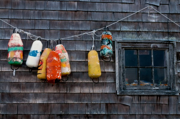Hanging floats, Peggy's Cove, Nova Scotia