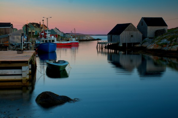 Peggy's Cove, Nova Scotia, at dawn