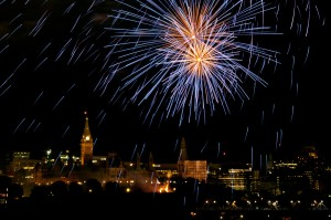 Fireworks over Parliament, Canada Day