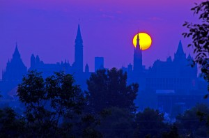 Sunrise over the Parliament Buildings, Ottawa