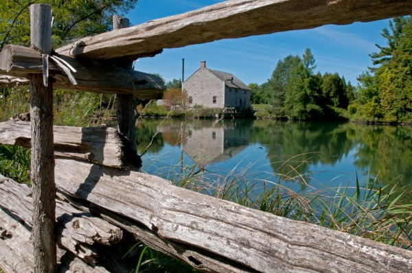 Reflection through the rails, Upper Canada Village