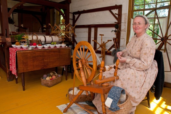 Spinning yarn, Upper Canada Village
