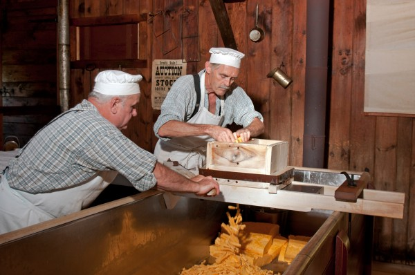 Making cheddar cheese, Upper Canada Village
