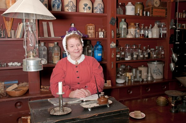 In the general store, Upper Canada Village