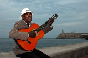 Singing on the Malecon